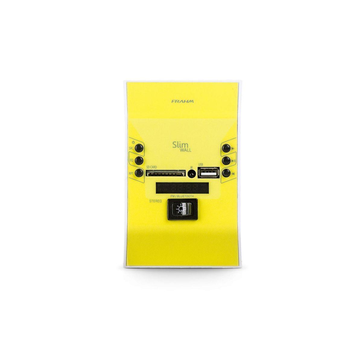 Amplificador de Parede Frahm Slim Wall Amarelo Bivolt