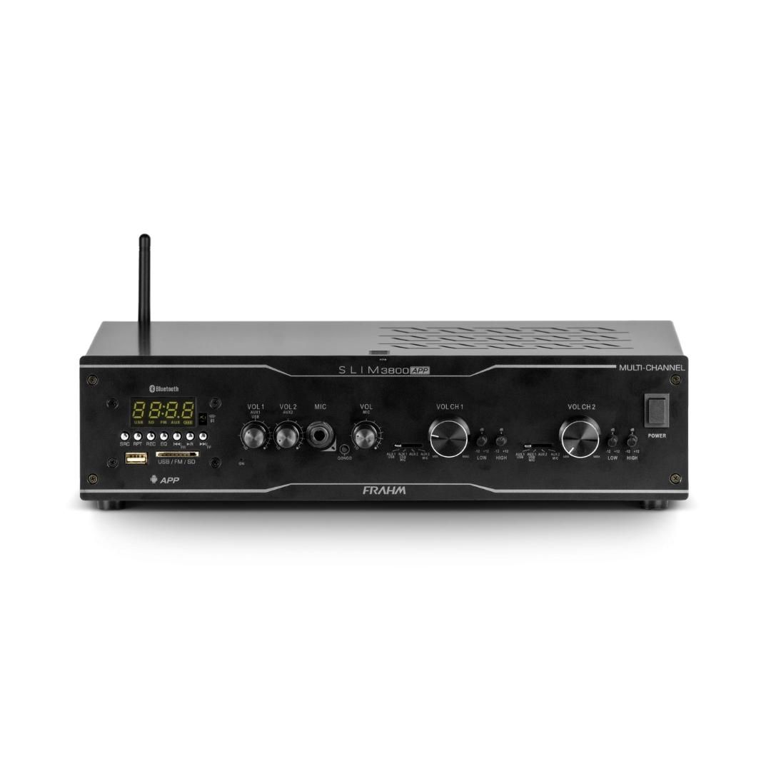 Amplificador Receiver Frahm Slim 3800 App Multi Channel