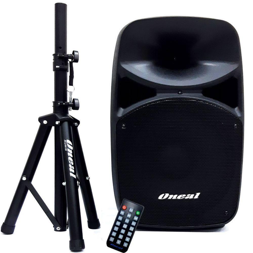 Caixa Amplificada Ativa Oneal OPB 915 com Pedestal e Bluetooth