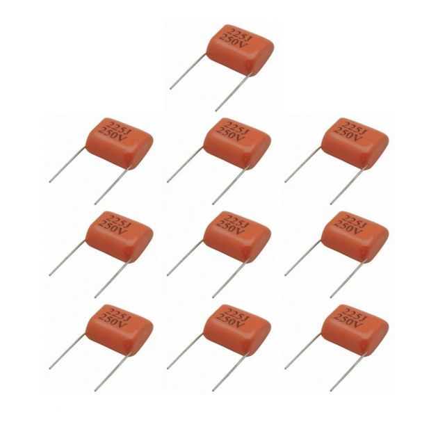 Pacote Capacitor Tweeter 2,2x250 - 10 unidades