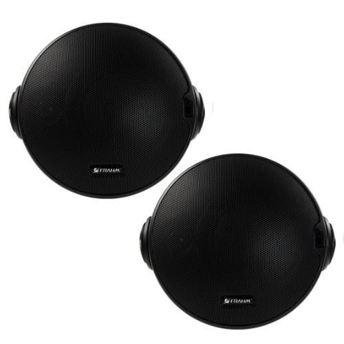 "Kit CR BT 4"" Frahm - Caixa Ativa + Passiva - Bluetooth 80w rms Preta"