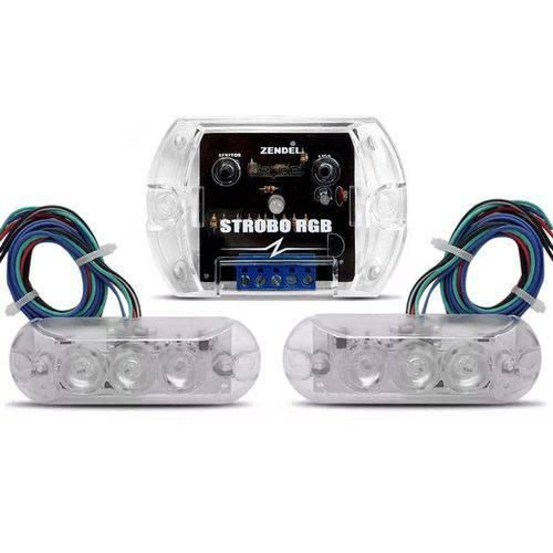Kit Strobo RGB 7 Cores Zendel com 2 Faróis LED Prova D'Agua