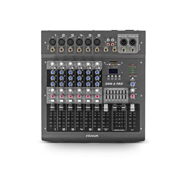 Mesa de Som Mixer GRM6 PRO Frahm