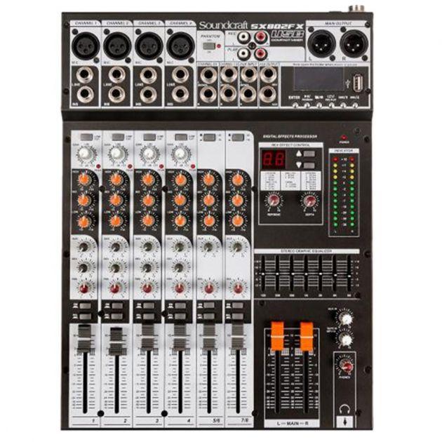 Mesa Analógica Soundcraft SX802FX 8 Canais