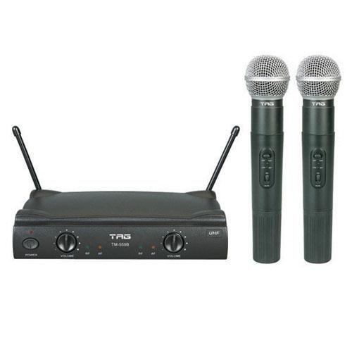Microfone de Mão 2 Bastões Tag Sound TM559B