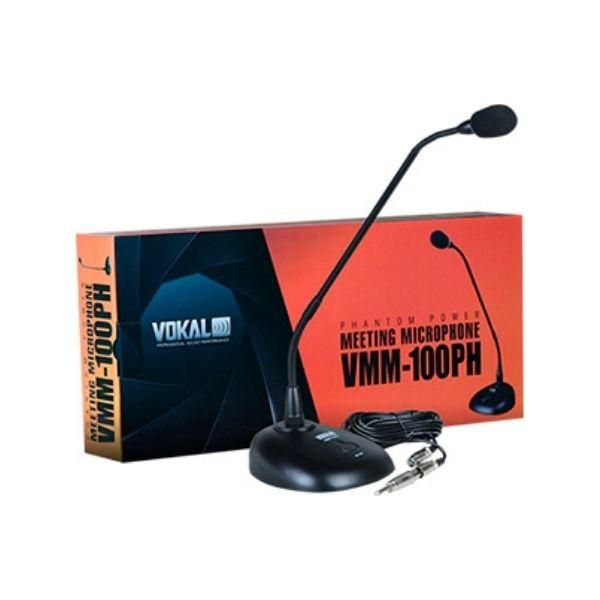 Microfone de Mesa VOKAL Gooseneck VMM-100PH