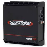 Módulo Soundigital SD400.2 4 Ohms Evo II Black