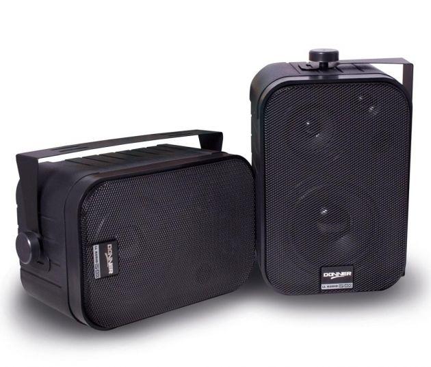 Par de Caixas Acústicas Som Ambiente Donner LL SP400 Preta