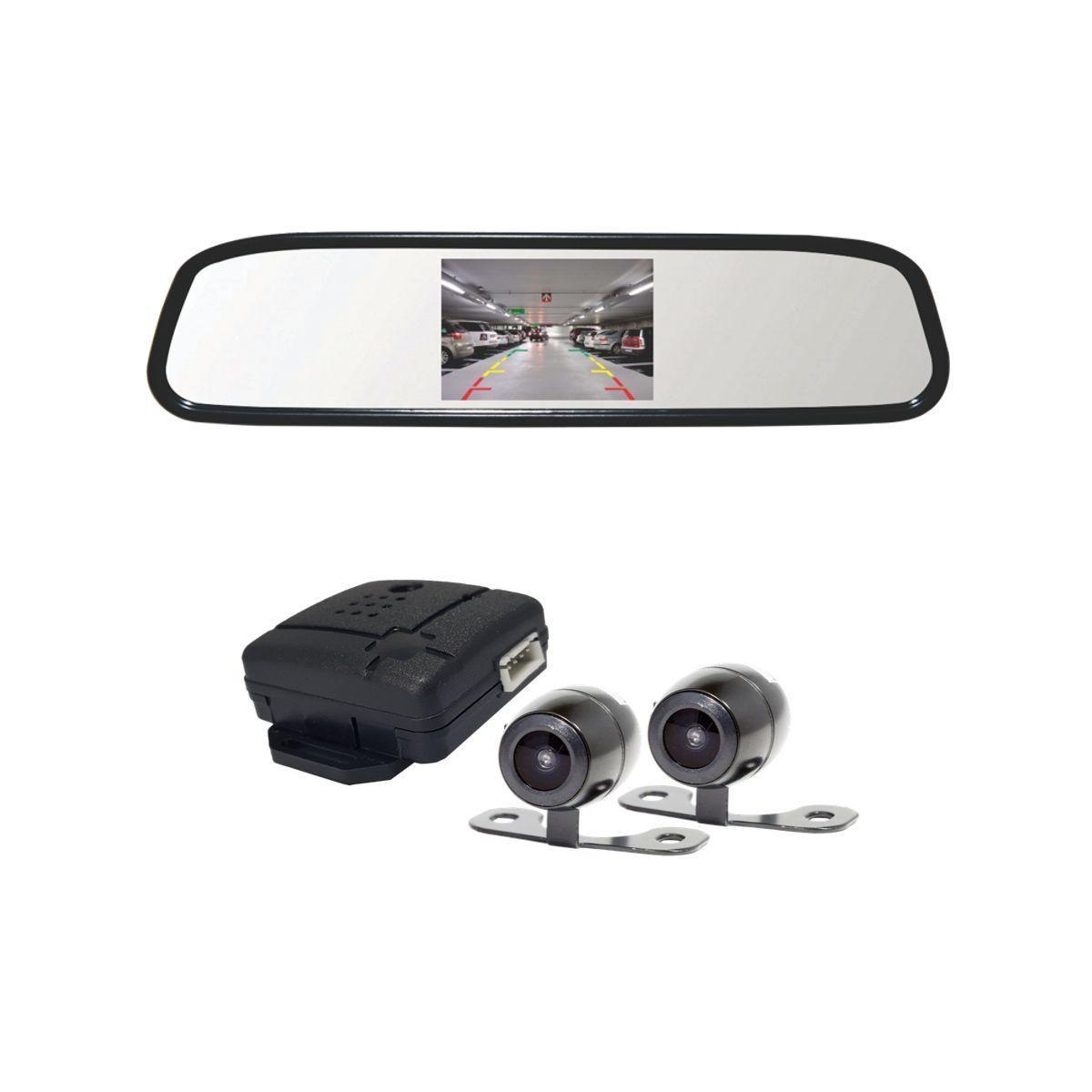 Retrovisor com 2 Câmeras Roadstar RS504